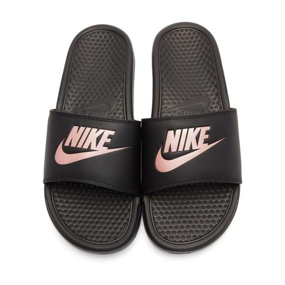 Nike Benassi Black   Rose Gold Slides. M 5b56c73b409c15d487d84dc6 8c65a75e138b